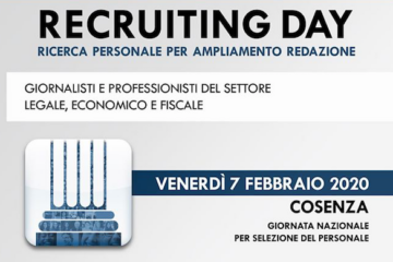Recruiting day: LLpT cerca personale
