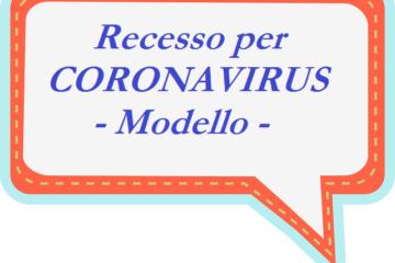 Modulo disdetta prenotazione per Coronavirus