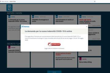 Indennità Covid-19: c'è un falso sito Inps