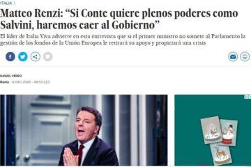 Renzi avverte Conte: pronto a far cadere il Governo