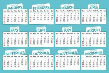 Calendario pensioni 2021