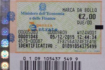 Chi paga marca da bollo 2 euro?