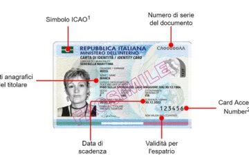 Carta d'identità elettronica: dove si trova il numero?