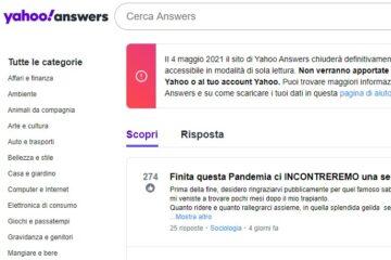 Addio a Yahoo! Answers: quando chiude definitivamente il sito
